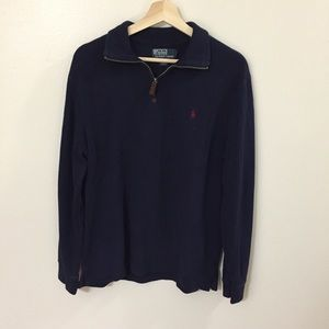 3/4 Zip Pullover Knit Sweater By Polo Ralph Lauren
